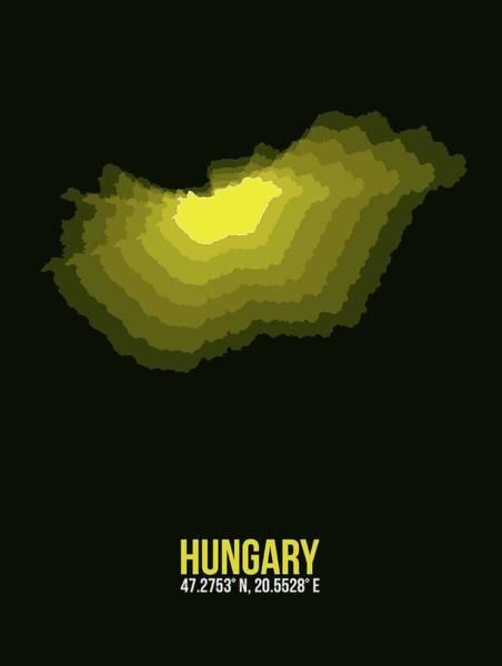 Wall Art - Digital Art - Hungary Radiant Map II by Naxart Studio