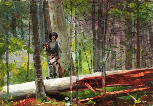 Wall Art - Painting - Hunter In The Adirondacks - Digital Remastered Edition by Winslow Homer