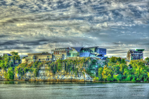 Wall Art - Photograph - Hunter Museum Of American Art Sunrise Chattanooga Tennessee Architecture Art  by Reid Callaway