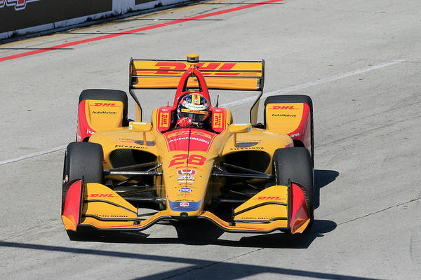 Wall Art - Photograph - Hunter-reay Into Turn 6 by Shoal Hollingsworth