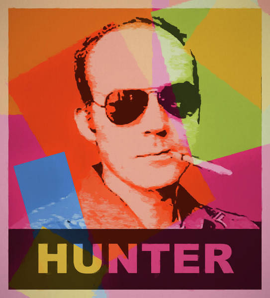 Wall Art - Painting - Hunter Thompson Pop Art by Dan Sproul
