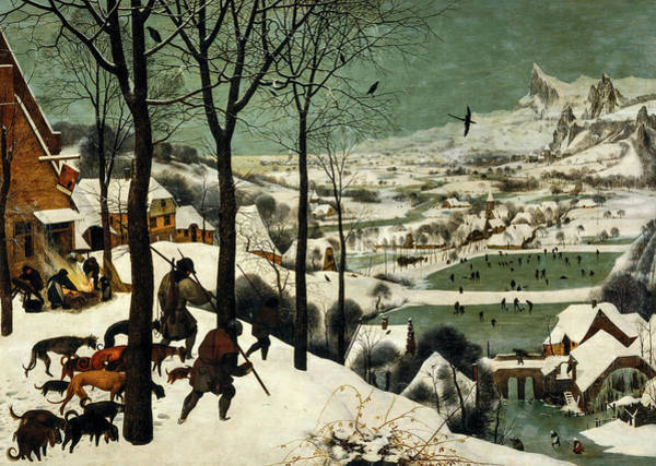 Wall Art - Painting - Hunters In The Snow, Winter, 1565 by Pieter Bruegel the Elder