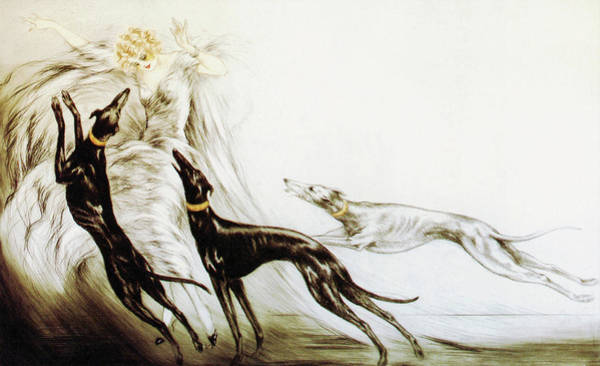 Wall Art - Painting - Hunting 2 - Digital Remastered Edition by Louis Icart