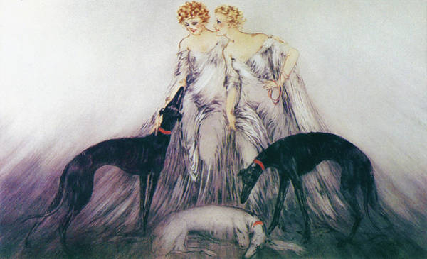 Wall Art - Painting - Hunting 3 - Digital Remastered Edition by Louis Icart