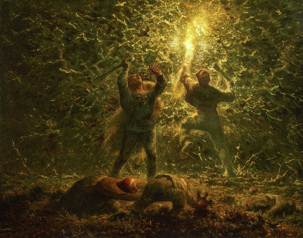 Wall Art - Painting - Hunting Birds At Night, 1874 by Jean-Francois Millet