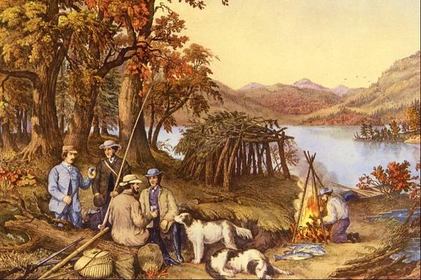 Currier And Ives Painting - Hunting, Fishing And Forest Scenes by Currier and Ives