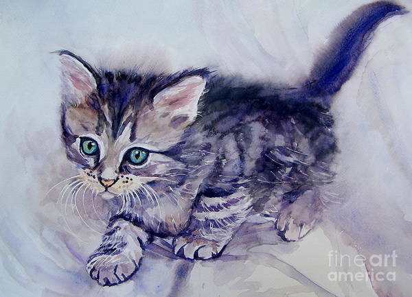 Wall Art - Painting - Hunting For A Mouse by Suzann Sines