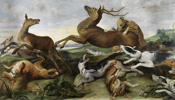 Dying Painting - Hunting by Frans Snyders
