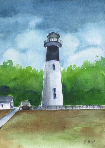 Hunting Island Lighthouse Wall Art - Painting - Hunting Island Lighthouse by Frank Bright