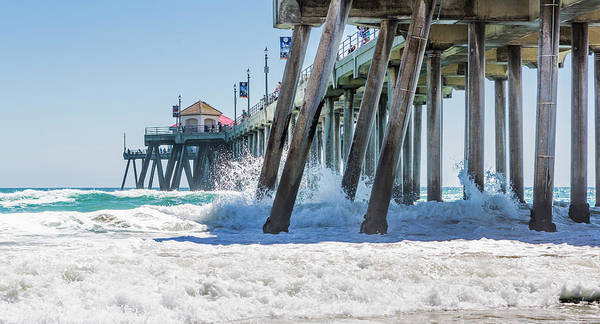 Photograph - Huntingdon Beach Pier by Maggie McCall