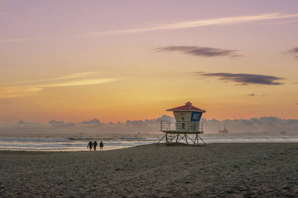 Wall Art - Photograph - Huntington Beach Lifeguard Tower  by Art Spectrum