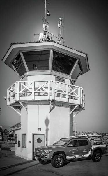 Wall Art - Photograph - Huntington Beach Main Lifeguard Pier Tower by Art Spectrum