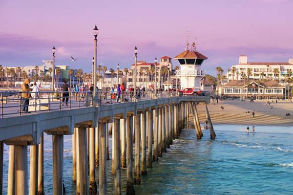 Wall Art - Photograph - Huntington Beach Sunset by Art Spectrum