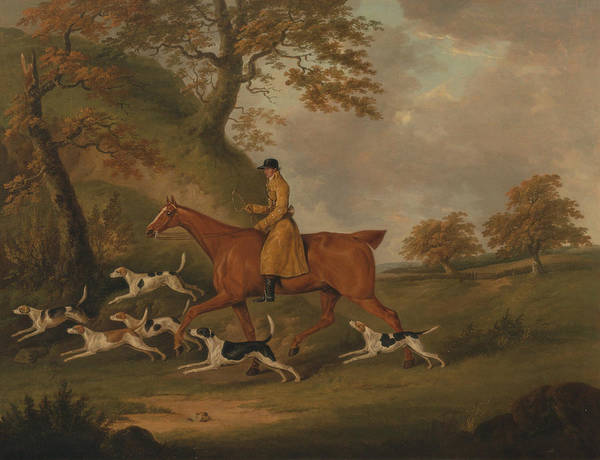 Painting - Huntsman And Hounds by John Nost Sartorius