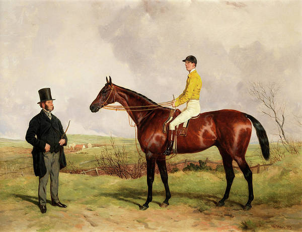 Huntsmen Wall Art - Painting - Huntsman With Ben Land Jnr Up And Ben Land Snr by Harry Hall