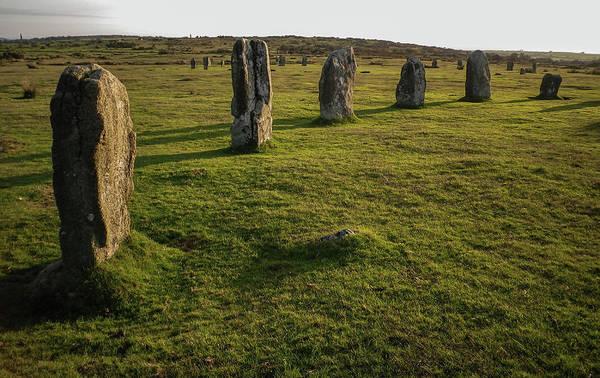 Wall Art - Photograph - Hurlers Stone Circle Minions Bodmin Moor Cornwall by Richard Brookes