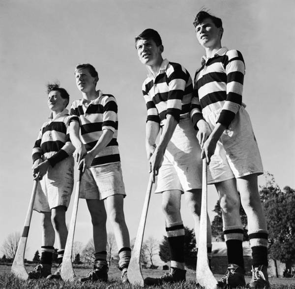 Teenager Photograph - Hurley Players by Three Lions