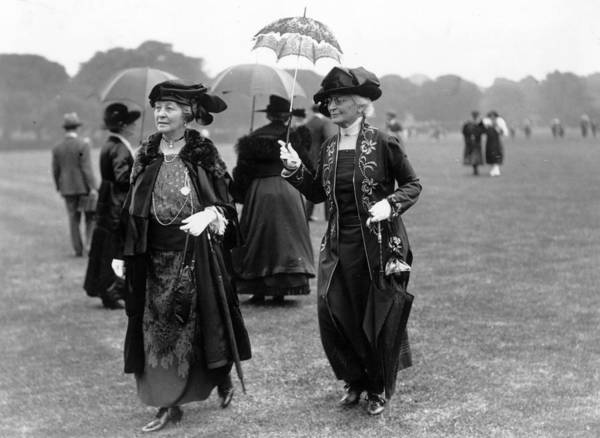 Formalwear Photograph - Hurlingham Ladies by Topical Press Agency