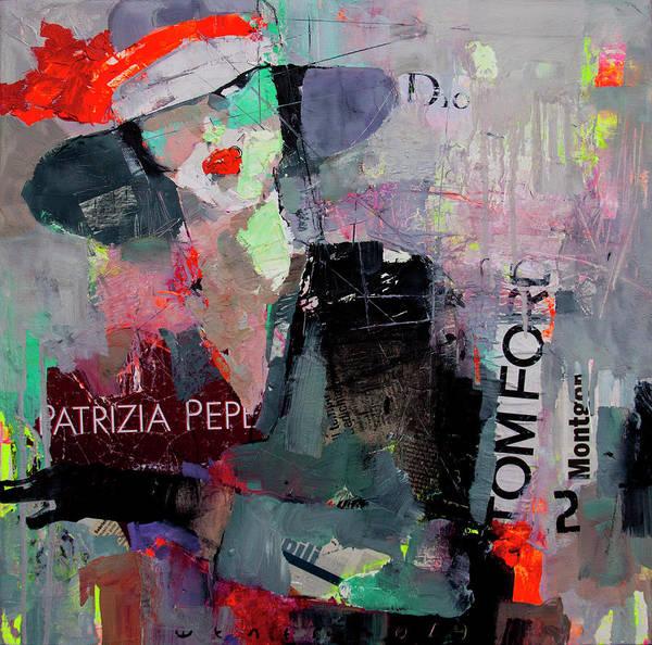 Wall Art - Mixed Media - Hurrying Lady by Viktor Sheleg
