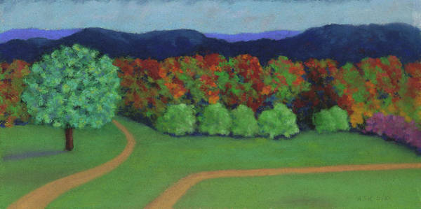 Pastel - Hutchins Farm In Fall by Anne Katzeff
