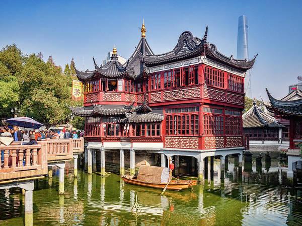 Wall Art - Photograph - Huxinting Tea House And Nine Turn Bridge, Shanghai by Colin and Linda McKie
