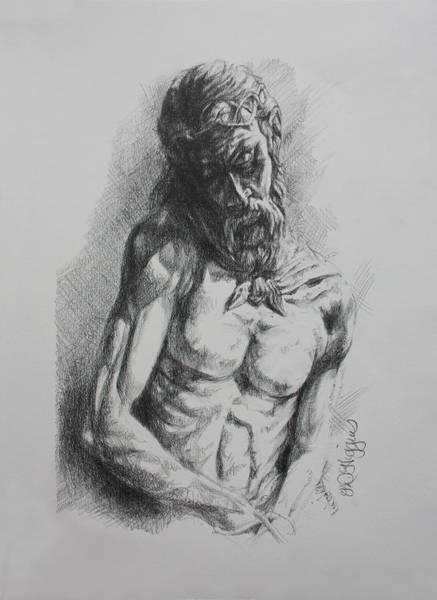 Hvar Wall Art - Painting - Hvar Christ by Derrick Higgins