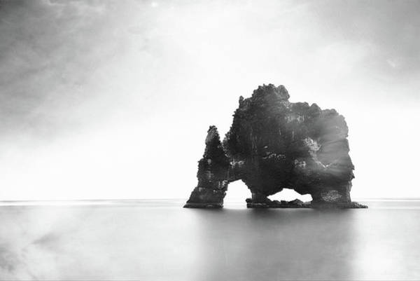 Photograph - Hvitserkur In The Mist by Susan Maxwell Schmidt