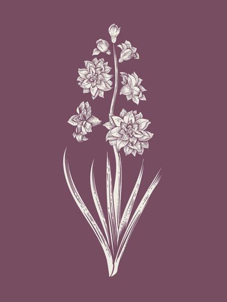Bouquet Mixed Media - Hyacinth Purple Flower by Naxart Studio