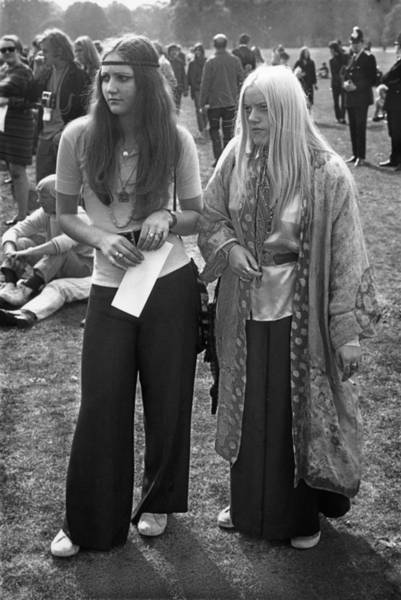 Fashionable Photograph - Hyde Park Hippies by Ian Showell