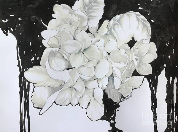 Drawing - Hydrangea Pour by Laurel Adams
