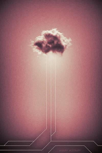 Figurative Abstract Photograph - Hyetal - Abstract Geometrical Cloud Art by Joseph Westrupp
