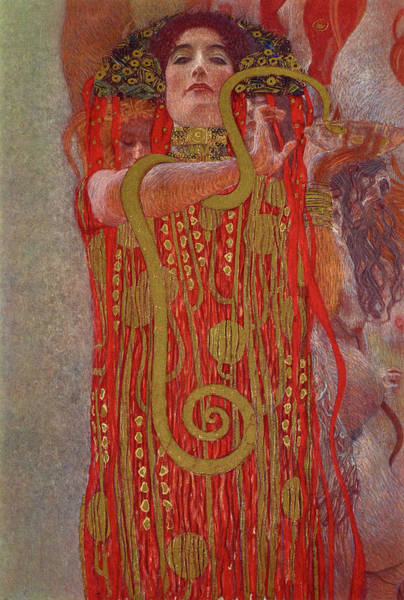 Wall Art - Painting - Hygieia, 1907 by Gustav Klimt