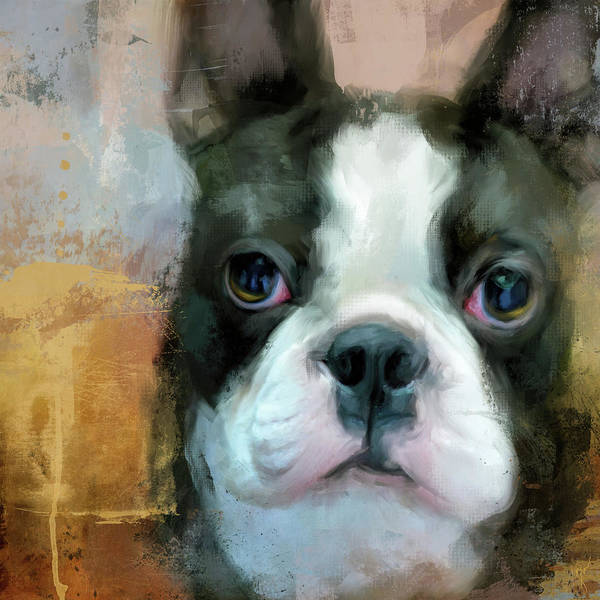 Painting - I Adore You Boston Terrier Art by Jai Johnson