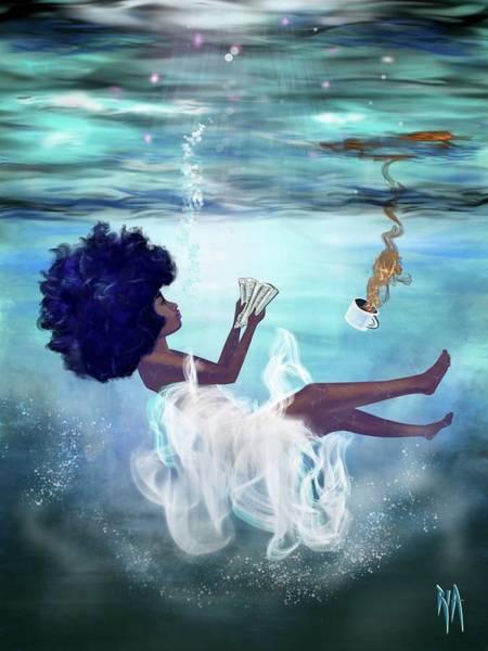 Woman Wall Art - Painting - I Aint Drowning by Artist RiA