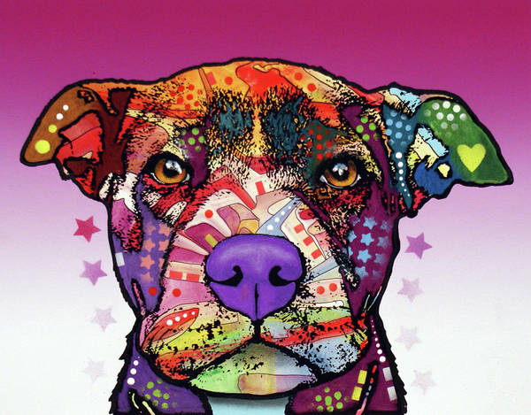 Wall Art - Painting - I Am A Pitbull by Dean Russo Art