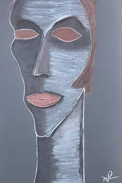 Drawing - I Am Myself by Mario MJ Perron