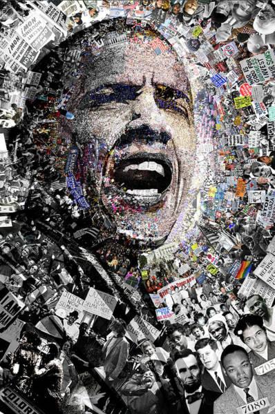 Democrat Mixed Media - I Am Not A Perfect Man by O  O