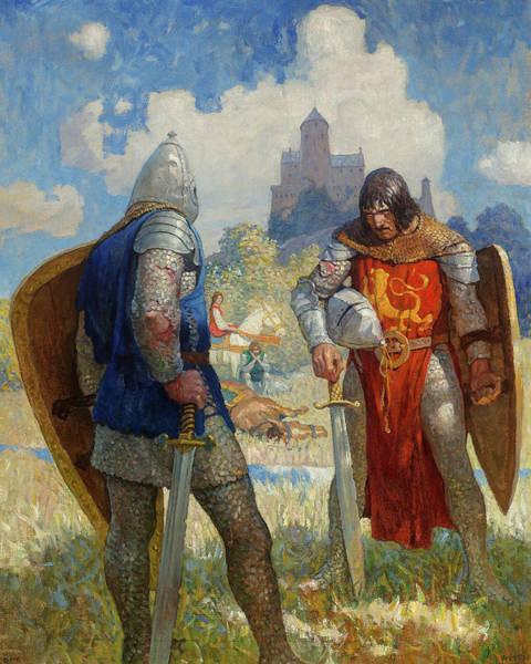 Wall Art - Painting - I Am Sir Launcelot Du Lake, 1917 by Newell Convers Wyeth