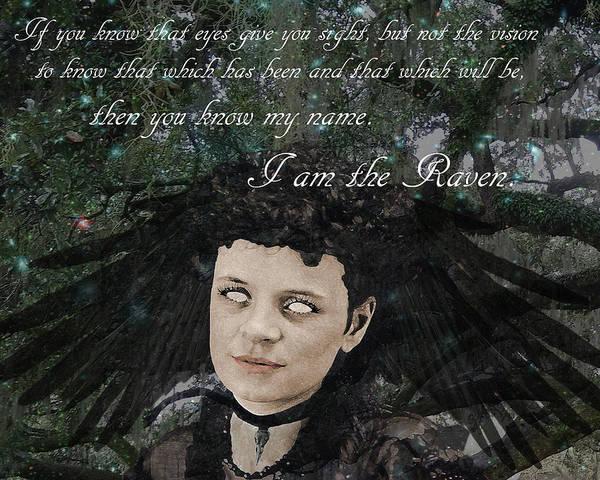 Wall Art - Digital Art - I Am The Raven by Loveday Funck