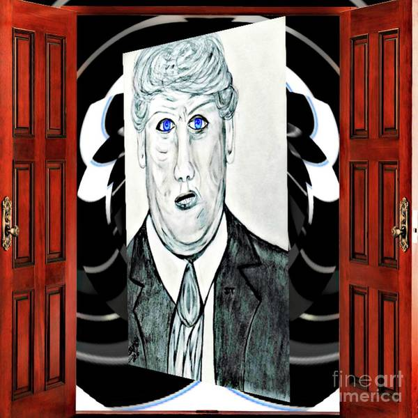 Drawing - I Announce Our President by Debra Lynch
