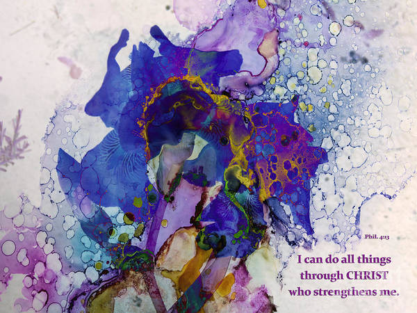 Wall Art - Mixed Media - I Can Do All Things Through Christ by Beverly Guilliams