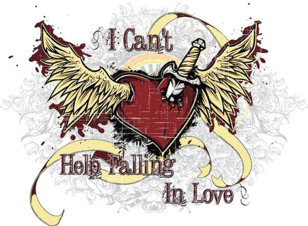 Digital Art - I Cant Help Falling In Love by Passion Loft