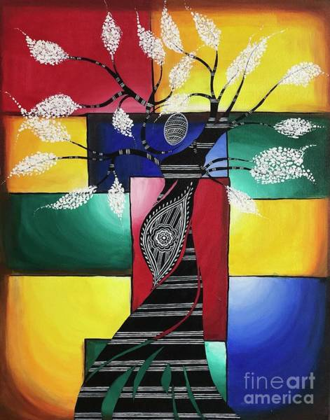 Wall Art - Painting - I Carry The Universe In Me 2 by Anuradha Kumari