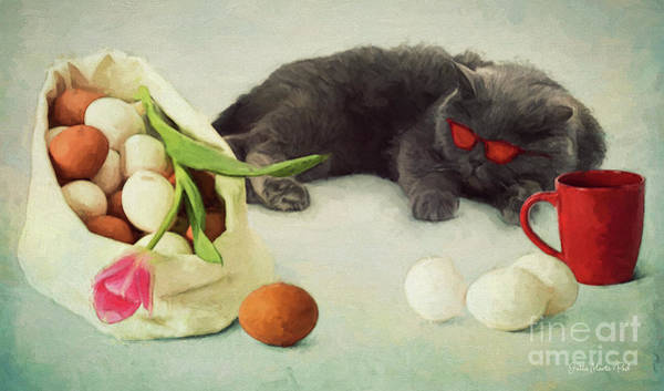 Digital Art - I Do Not Like Eggs by Jutta Maria Pusl