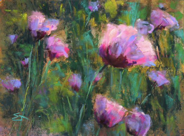 Wall Art - Painting - I Dream Of Purple by Susan Jenkins