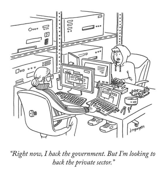 Drawing - I Hack The Government by Jeremy Nguyen