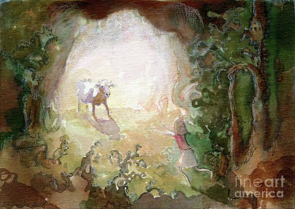 Guache Painting - I Have Found You by Elzbieta Jezewska