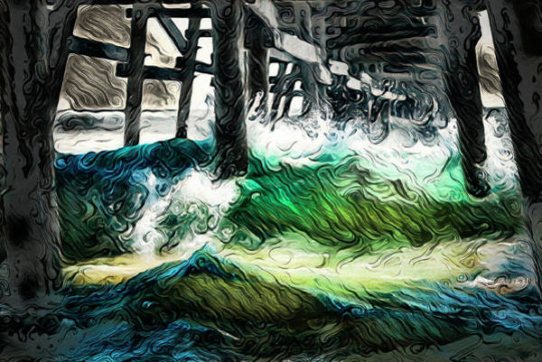 Digital Art - I Like That Wave Too by Scott Campbell