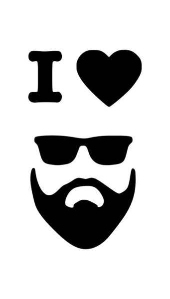 Hardrock Digital Art - I Love Beards by Tee Titan