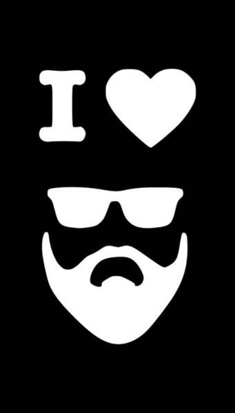 Hardrock Digital Art - I Love Beards1 by Tee Titan